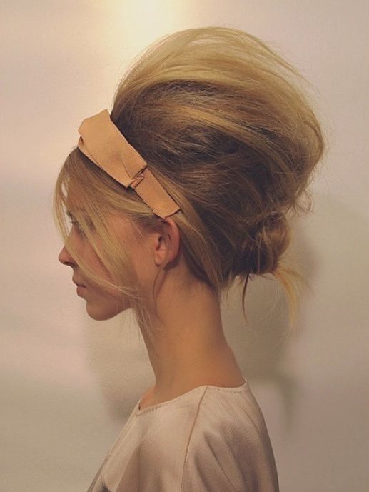 Teased Bun Hairstyle Pictures Photos And Images For Facebook