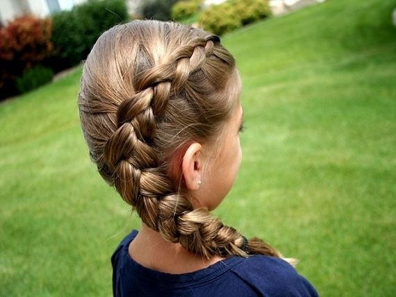 Braided Hair Styles For Little Girls: Same Side Dutch Braid Pictures, Photos, And Images For