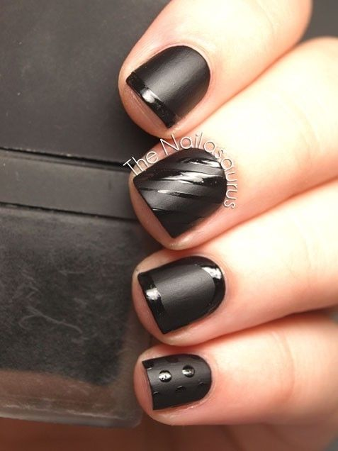 Matte Black Nails Pictures Photos And Images For