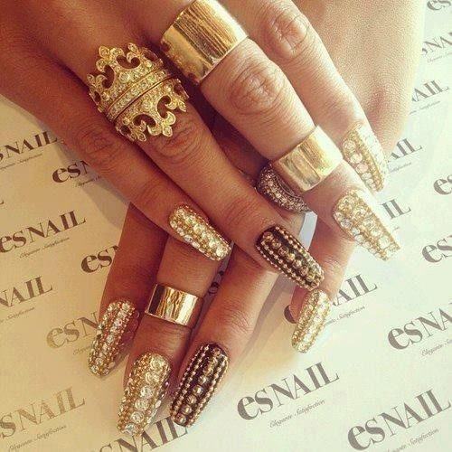 Gold Jeweled Nails Pictures Photos And Images For Facebook Tumblr