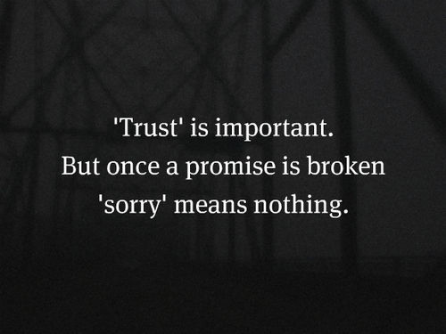 When Trust Is Broken Sorry Means Nothing Quotes: Trust Is Important Pictures, Photos, And Images For