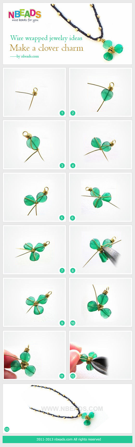 Wire Wrapped Jewelry Ideas - Make A Clover Charm Pictures, Photos, and ...