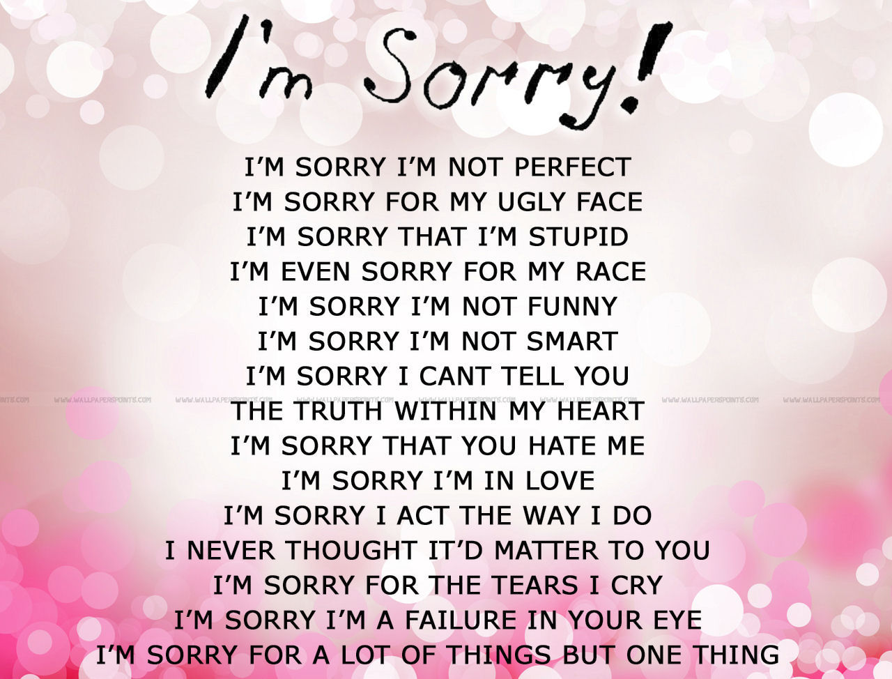 Im Sorry Pictures, Photos, and Images for Facebook, Tumblr ...