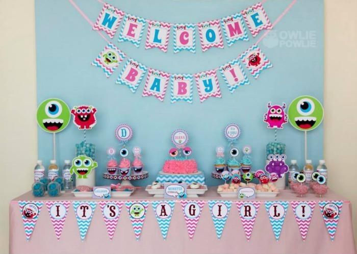 Monster Baby Shower Theme