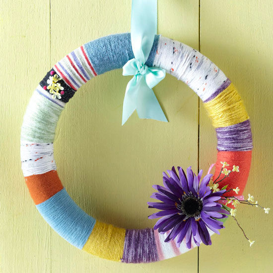 Easy Yarn Wrapped Wreath Pictures, Photos, And Images For