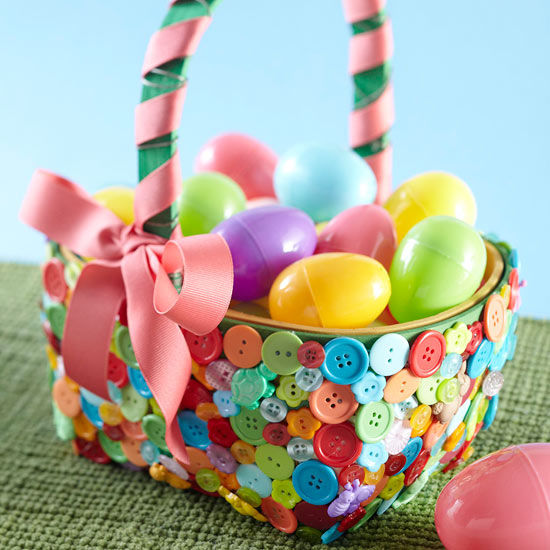 Button embellished easter basket pictures photos and images for button embellished easter basket negle