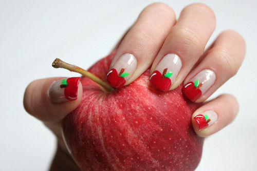 Cute Apple Nail Art Pictures Photos And Images For Facebook