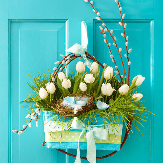 Spring Flower Basket Decoration Pictures Photos And Images For