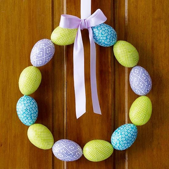 Colored Easter Egg Wreath Pictures, Photos, and Images for ...
