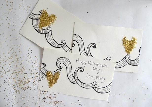 Glitter Handmade Valentines Day Card Pictures Photos and Images
