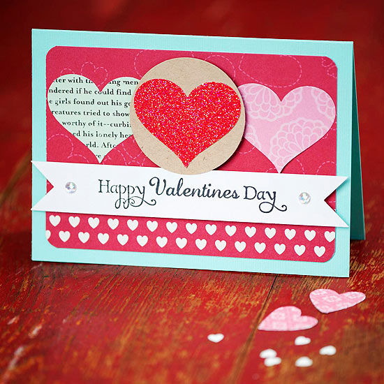 Simple Valentines Day Card With Hearts Pictures, Photos