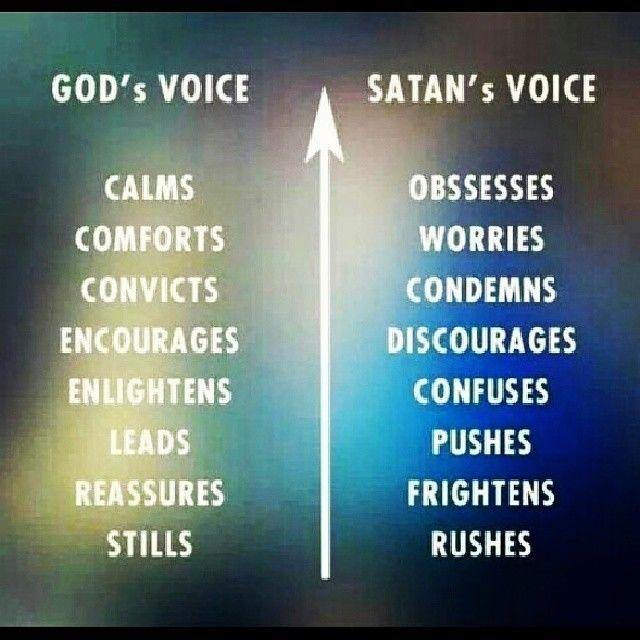 Evil Satan Qoutes: Gods Voice Vs Satans Voice Pictures, Photos, And Images