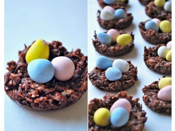 Chocolate Coconut Easter Egg Nests Pictures, Photos, and Images for ...