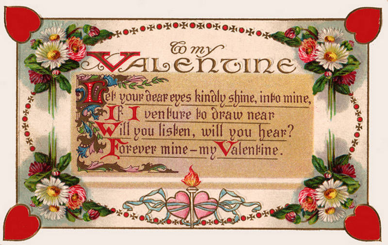 Vintage Valentine Poem