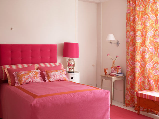 Pink And Orange Classic Bedroom Pictures Photos And