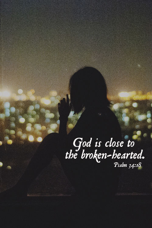 Quote for God Is Near to the Brokenhearted