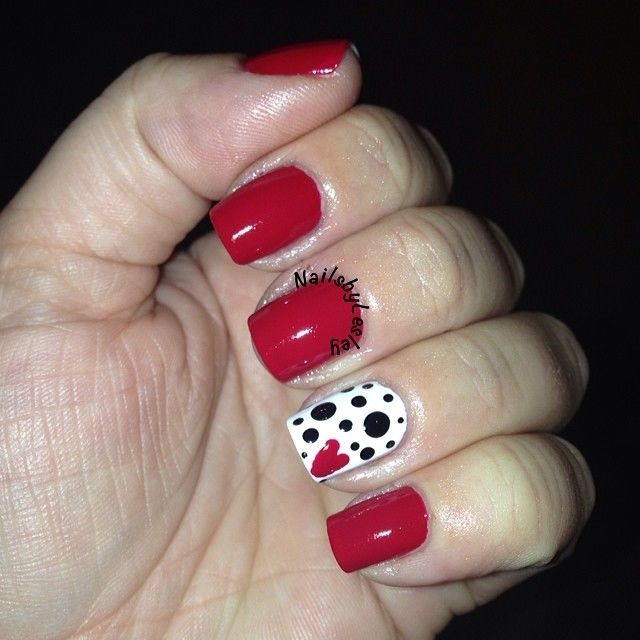 Red And Polka Dot Nails Pictures, Photos, and Images for Facebook ...