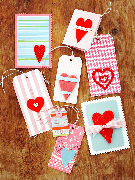 valentines day cards and tags