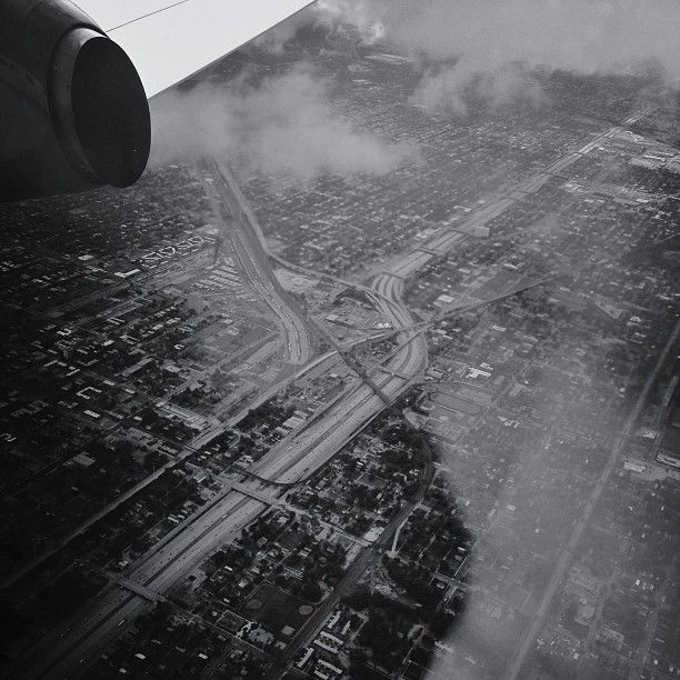 View Over Chicago From Airplane