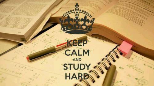 Resultado de imagen de keep calm and study hard