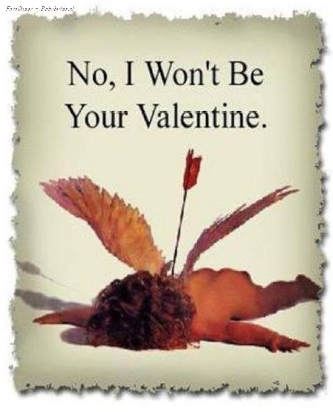 No I Wont Be Your Valentine