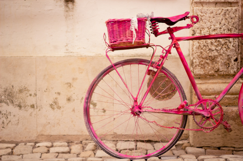 Vintage Pink Bicycle Pictures Photos And Images For Facebook