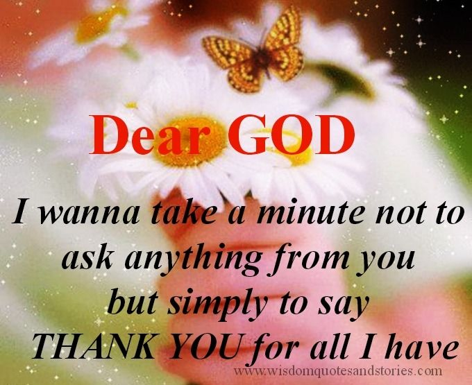 saying thank you to god