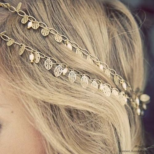 Gold Leaf Headband Pictures, Photos, And Images For