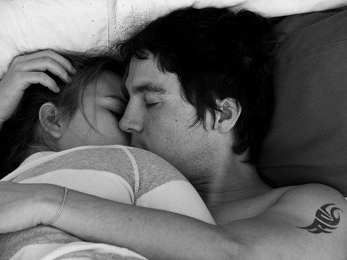 How to cuddle and kiss