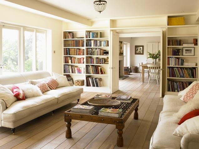 Living Room Book Storage