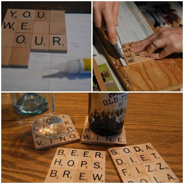 Diy scrabble drink coaster pictures photos and images for Drink coaster ideas