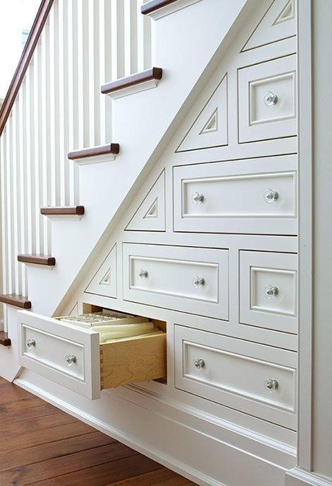 Drawers Built Into Staircase