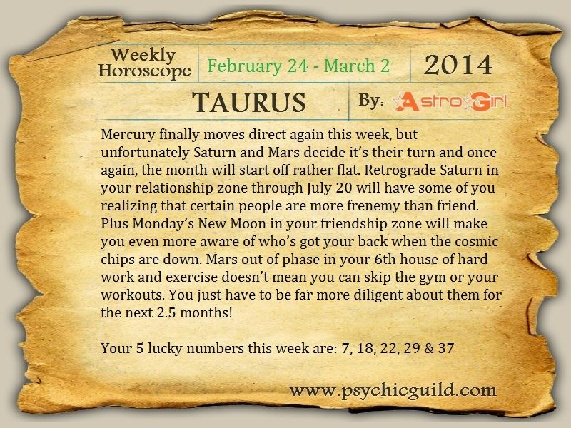 Weekly Horoscope For Taurus: Pictures, Photos, and Images for