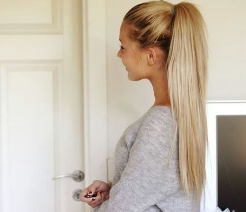 Cute blond ponytail