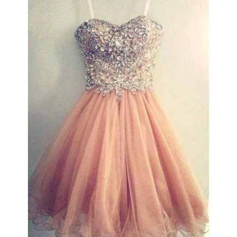 Dress Pink Homecoming Dress Tulle Homecoming