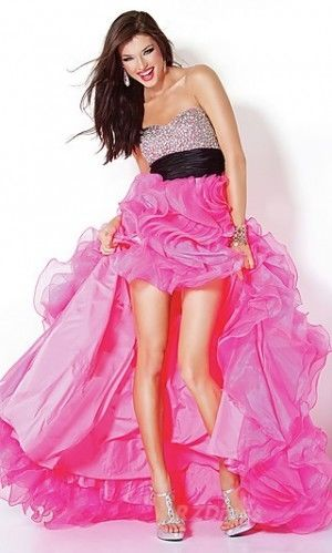 f5585c2f904 Hot Pink Prom Dress Pictures