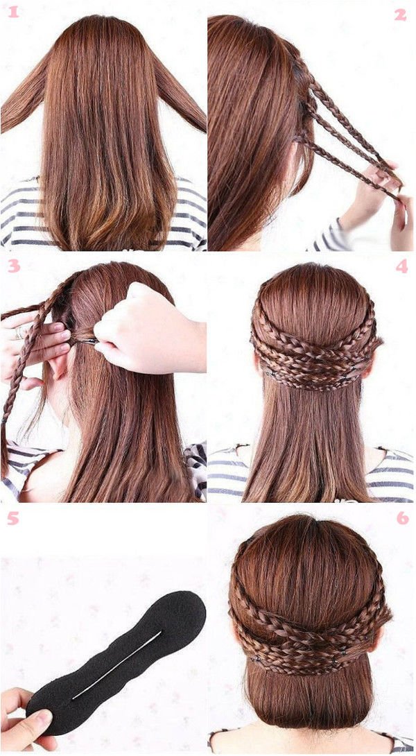 diy half up hair with braided strands pictures photos and images for facebook tumblr. Black Bedroom Furniture Sets. Home Design Ideas