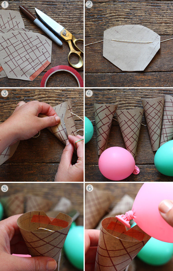 Diy ice cream party cones pictures photos and images for for Ice cream cone paper craft