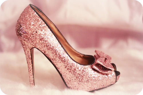 Pretty Dusty Rose Glitter Pump Pictures Photos And