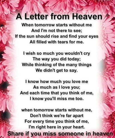 A Letter From Heaven s and for