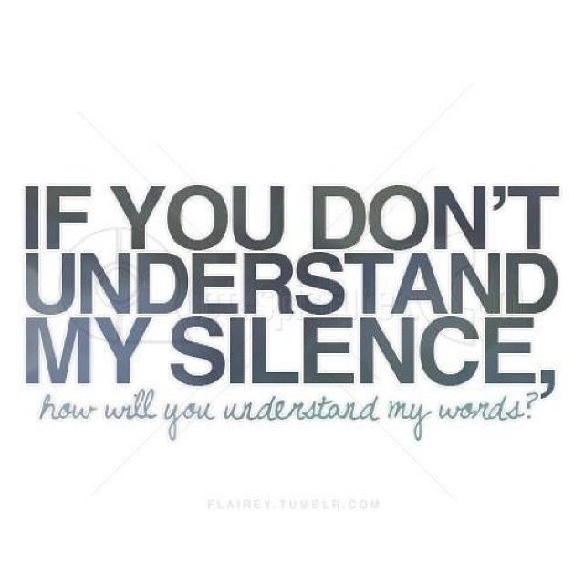 Silence Love Quote