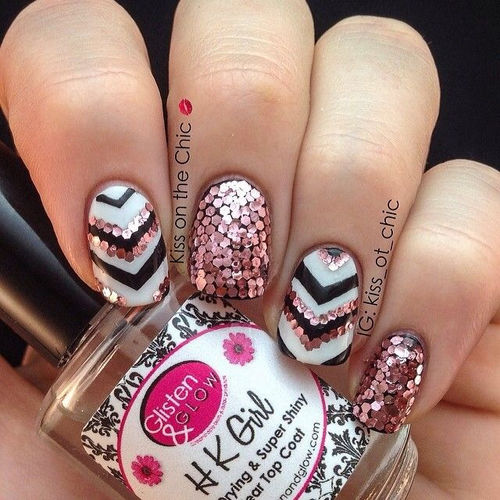 Shiny Shimmer Nail Art Pictures Photos And Images For Facebook