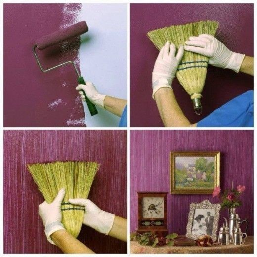 Diy Textured Painted Wall With A Broom Pictures Photos And Images