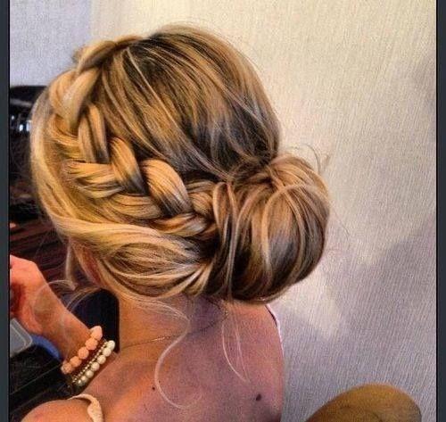 Prom Hairstyles Braid Bun