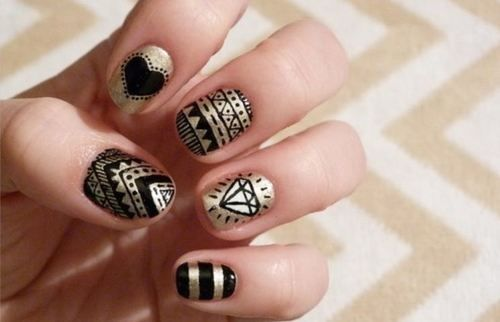 Gold And Black Nail Designs Pictures Photos And Images For