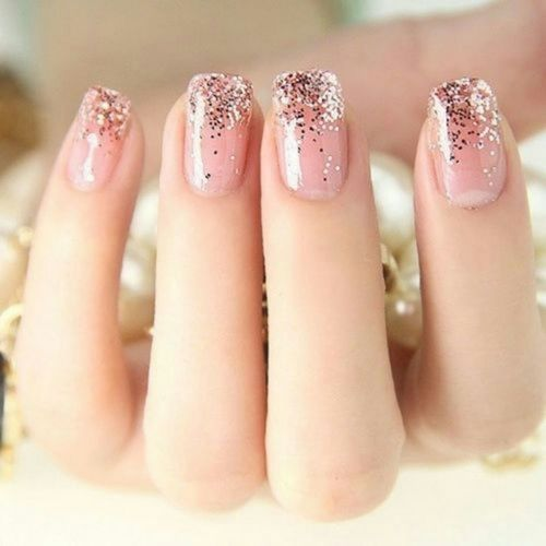 Glitter Dipped Nail Design
