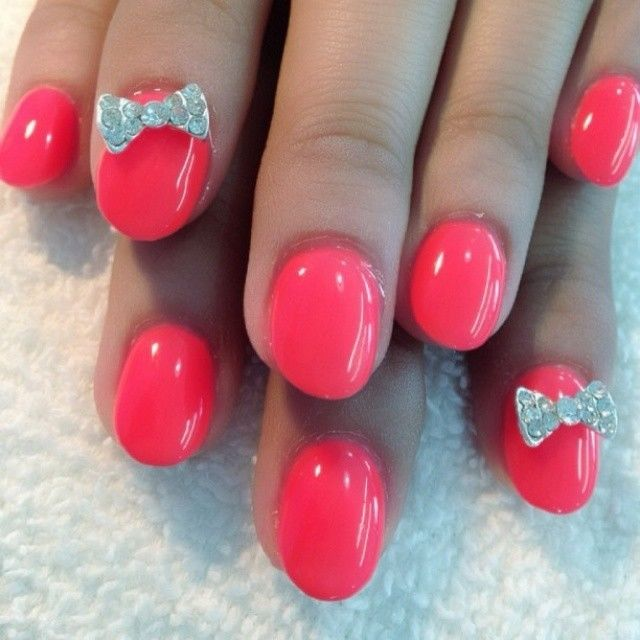 Cutesy Pink Bow Nails Pictures Photos And Images For Facebook