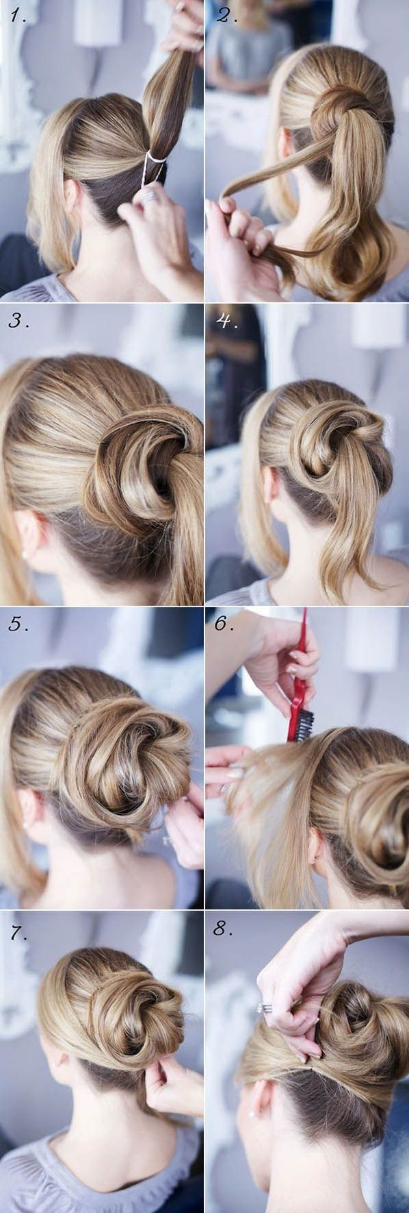 DIY Bun Hairstyle Pictures, Photos, and Images for Facebook, Tumblr, Pinterest, and Twitter