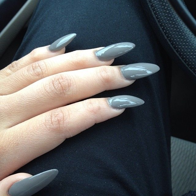 Grey Stiletto Nails Pictures, Photos, and Images for Facebook ...