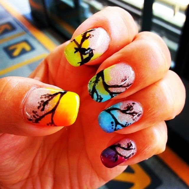 Spring colorful nail art - Spring Colorful Nail Art Pictures, Photos, And Images For Facebook